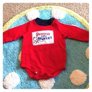 Red long sleeve onesie size 6 months, circo